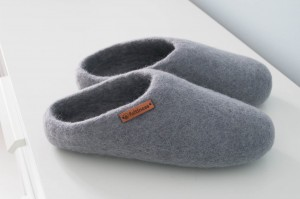 Felt Slippers - Grey