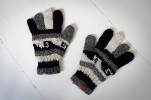 Wool gloves hand-made - Beige