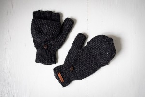Wool gloves hand-made - Black