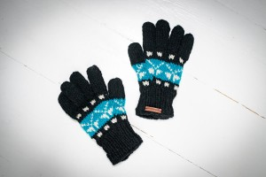 Wool gloves hand-made - Blue