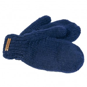 Wool gloves hand-made - Navy blue II