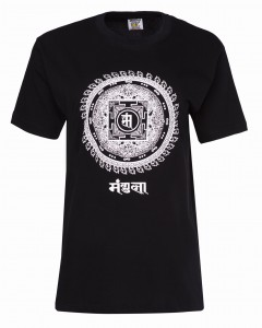 Cotton T-shirt Mandala Black - Nepal