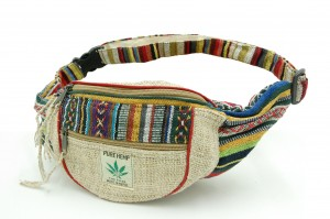 Fanny pack made of hemp in ethno style Etno