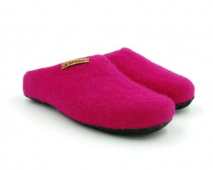 Felt Slippers with sole - Pink
