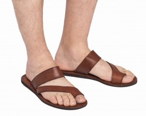Men's leather sandals Brown