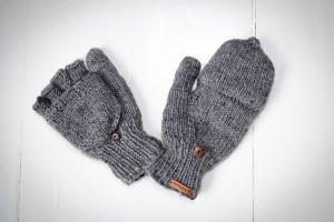 Wool gloves hand-made - Grey