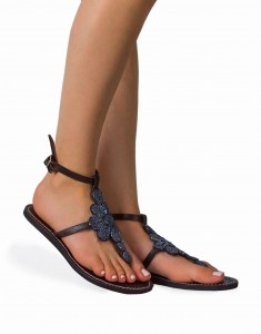 Women's shiny sandals