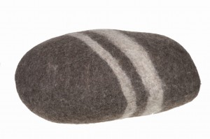 Stone pouf, large stone - Brown